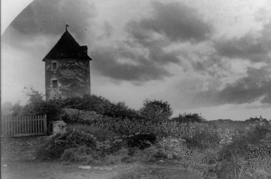Le moulin avec son toit d'origine