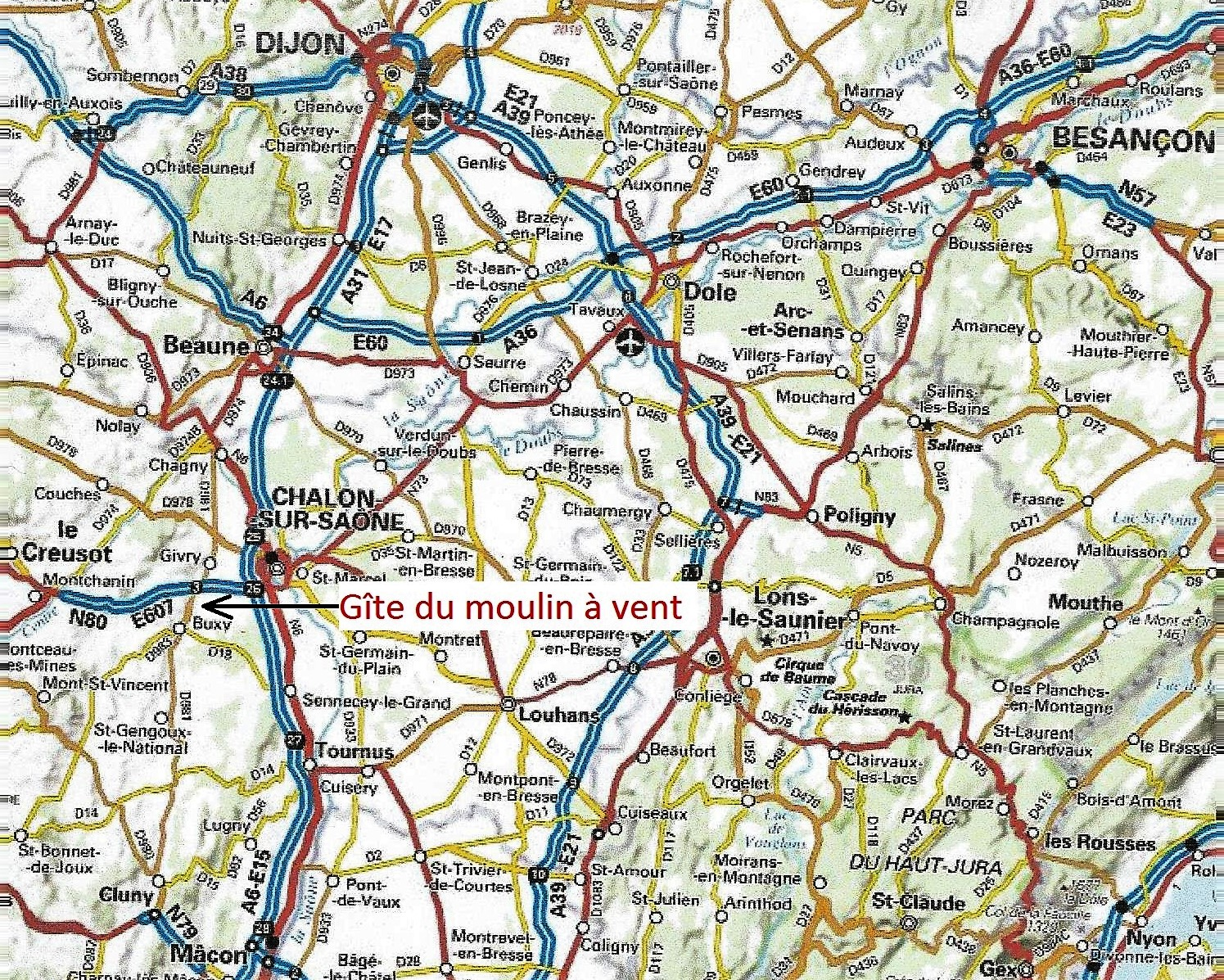 Carte moulin site web